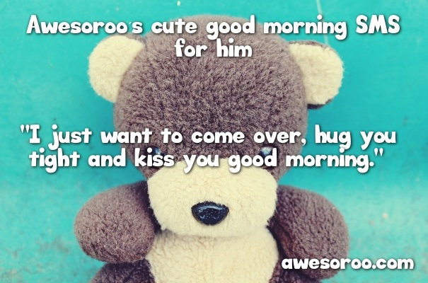 bear with cute message