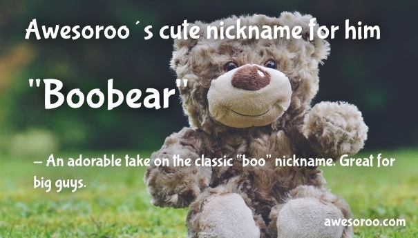 boobear nickname for guy
