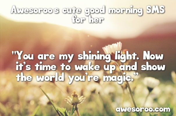 cute ways to say goodmorning to a girl