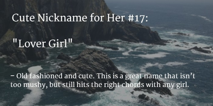 great nicknames for a girl