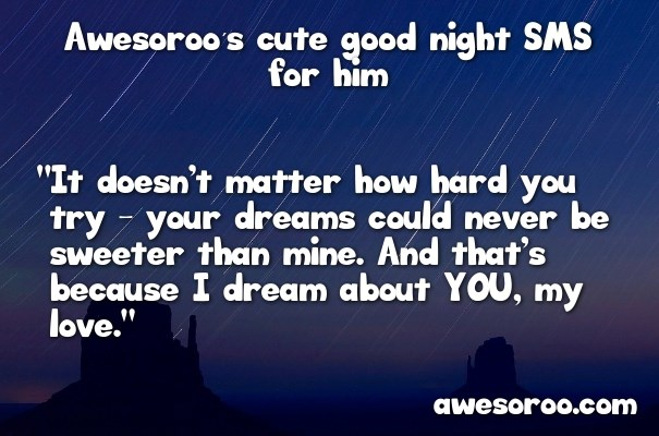 good night sms for a guy