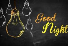 good night sms for him