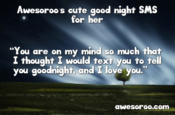 night sky with text for good night