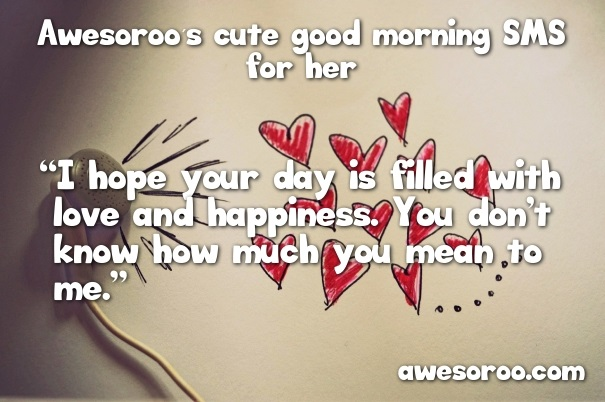 Sweet morning text messages for your girlfriend