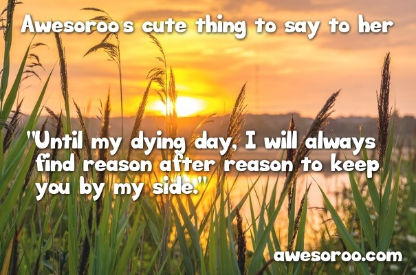 sunset romantic and cute with saying