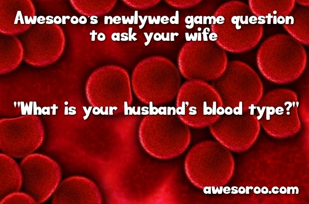 blood type newlywed question