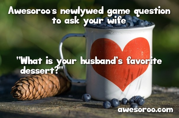 dessert question for newlywed game