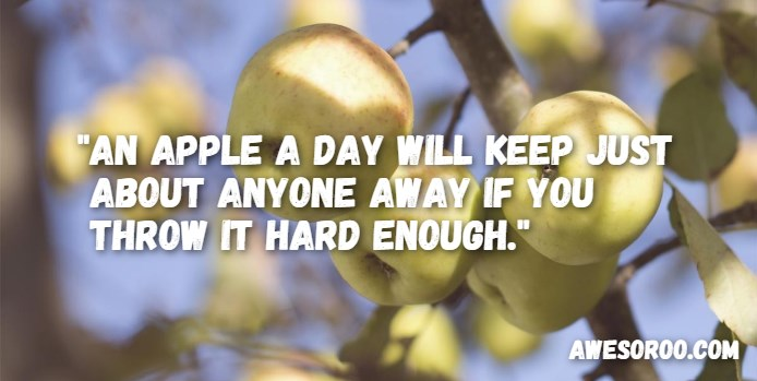 apple a day quote