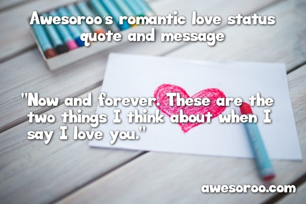 romantic quote with heart