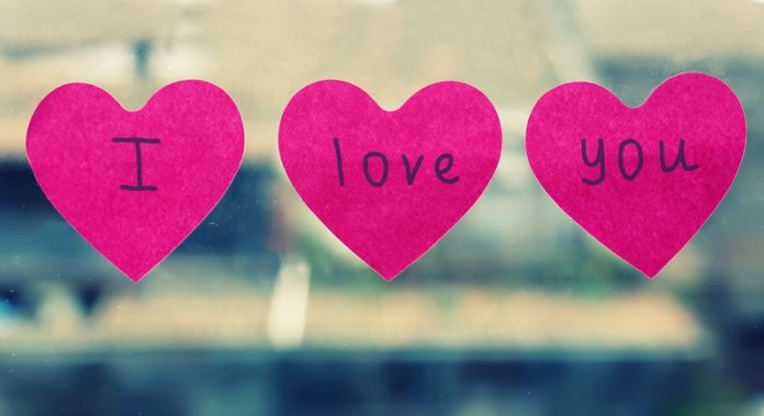 I love you heart stickers