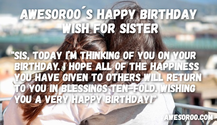 birthday quote for sister