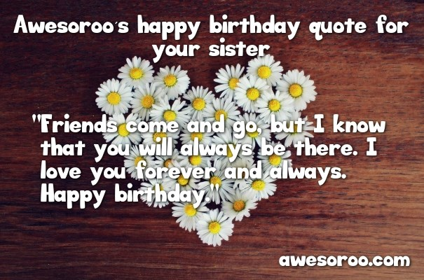 birthday wish for sister