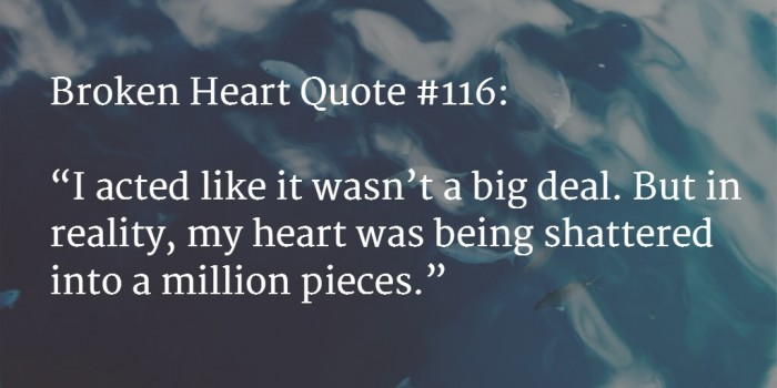 Quotes About Being Broken Hearted Classy 48 [BEST] Broken Heart Quotes With Images Mar 48 UPDATE