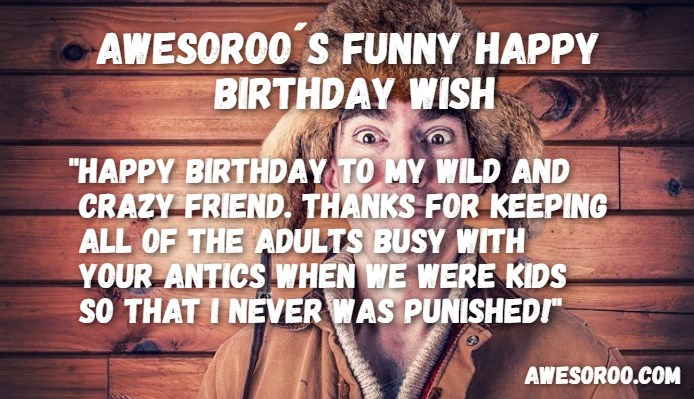 269 most hilarious funny birthday wishes quotes apr 2018 crazy man with a funny wish voltagebd Image collections