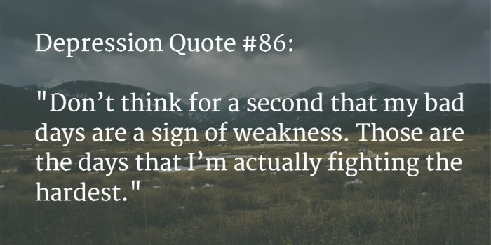 Image of: Deep Depression Quote Awesoroo 110 best Depression Quotes To Say How Much It Hurts feb 2018