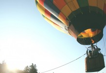 freedom in hot air balloon