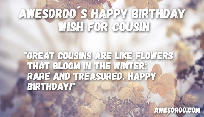 birthday paragraph for cousin