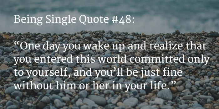 quote about being single 4