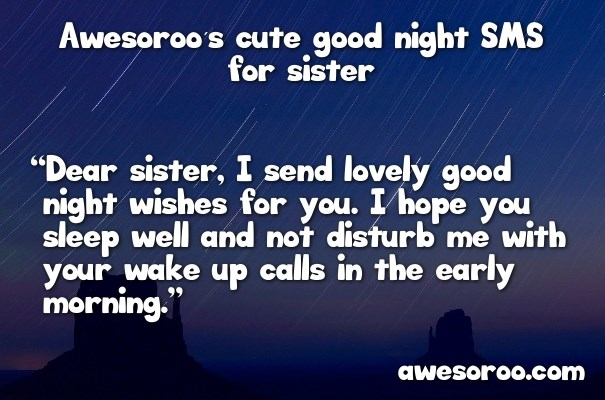 awesome good night sister messages images nov  good night sis
