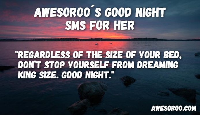 cute good night sms