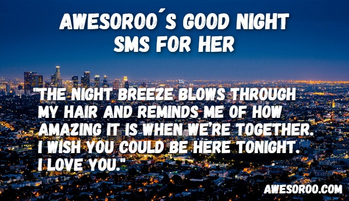 cute sms for good night