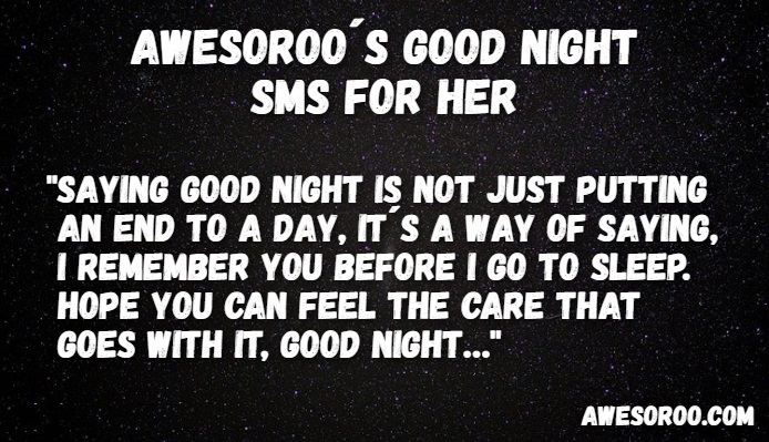 Simple goodnight texts for her