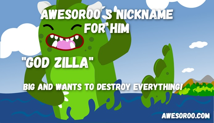 funny god zilla name