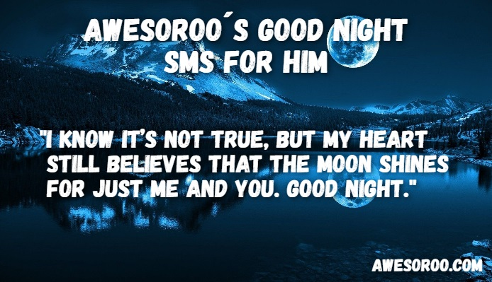 goodnight sms for him 2