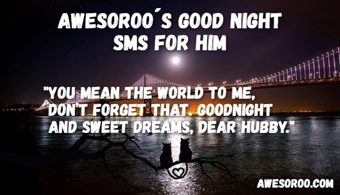goodnight sms for him 8