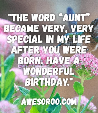 as your aunt ive the duty to wish you as the very first person on your most special day wishing you the best birthday