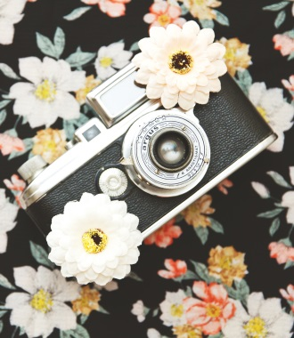 camera on cute background mobile