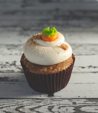 sweet carrot cupcake mobile