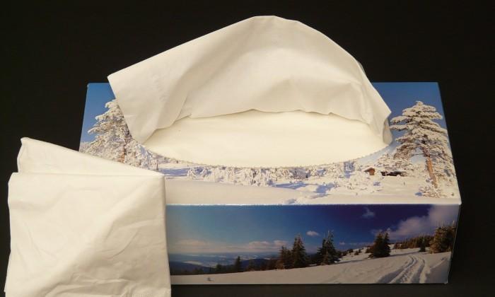 kleenex paper tissue box