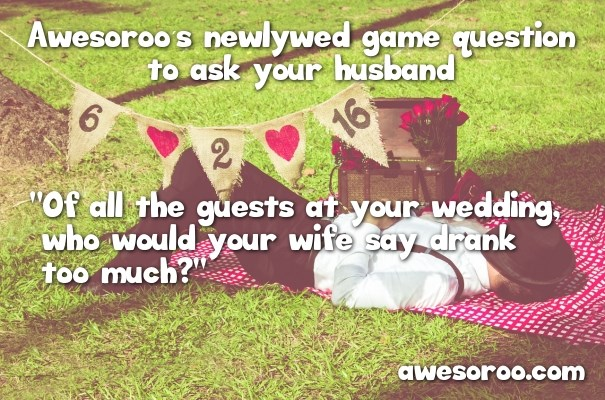 best questions for husband in newlywed game