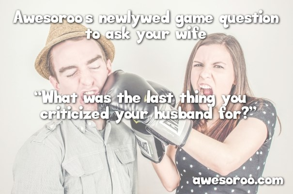 funny question for newlywed game