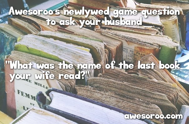 question about book for newlywed game