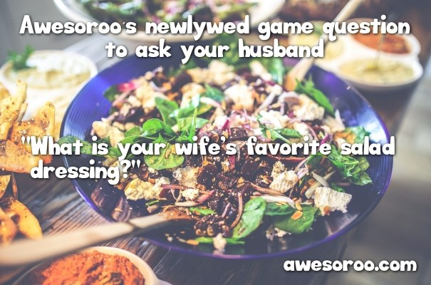 salad question for newlywed game