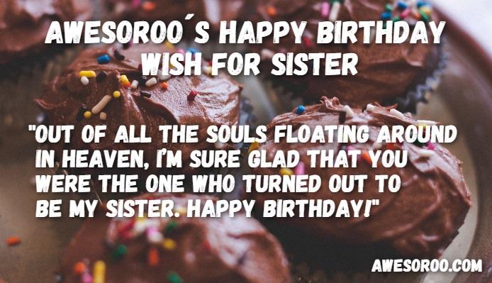 birthday cake for sister