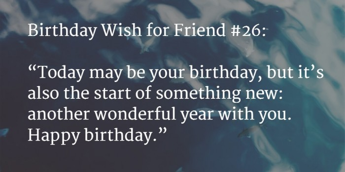 friend birthday wish 2