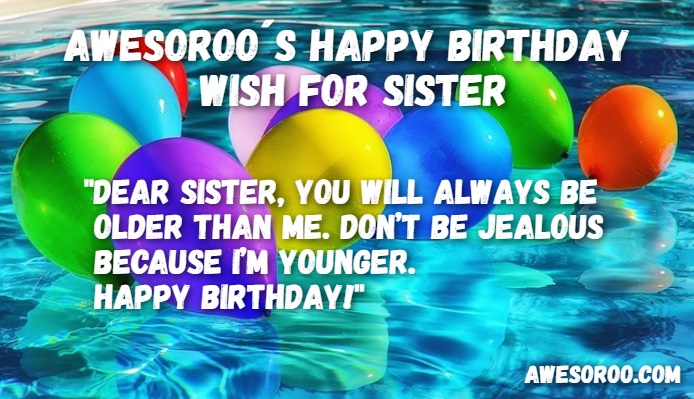 happy birthday sister wish