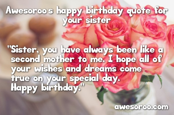 🥇 318+ [BEST] Happy Birthday Sister Status Quotes & Wishes ...