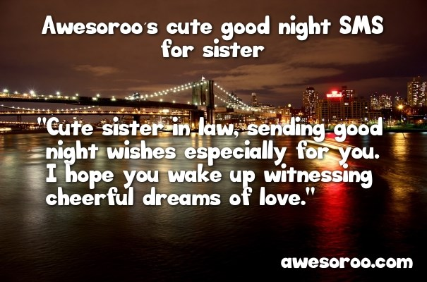 50+ [AWESOME] Good Night Quotes & Messages for Sister (Feb  2018)