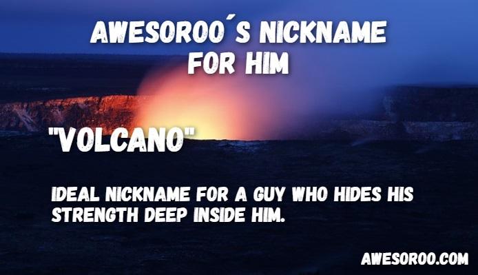 active volcano nickname