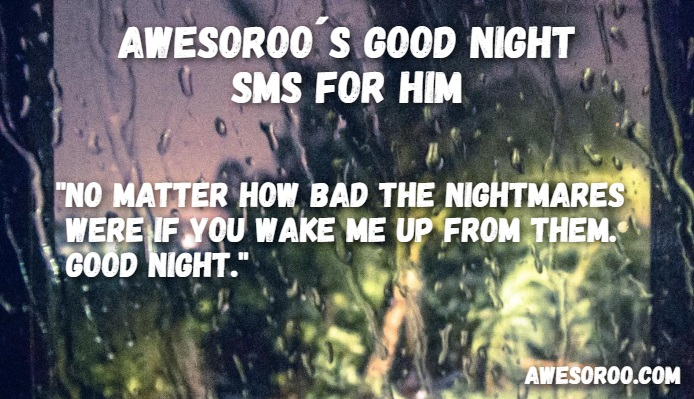 goodnight sms for him 1