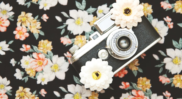 camera on cute background desktop