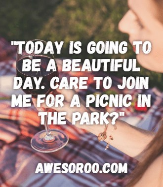 picnic good morning text message