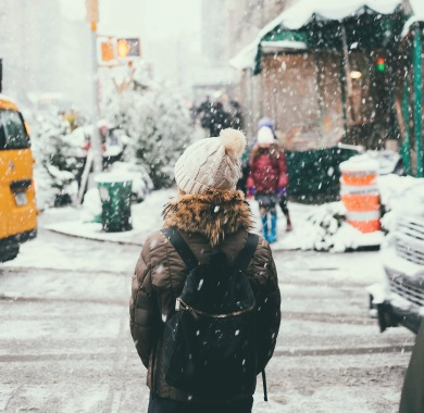 f3780a7a25d SHORT WINTER CAPTIONS FOR INSTAGRAM. snowing on the street mobile